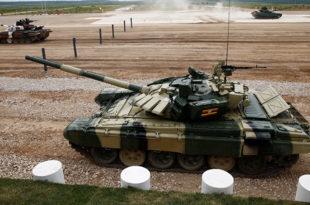 Бламажа ловачког друштва на тенковском бијетлону у Русији