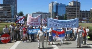 """НАСТАВЉА СЕ ШТРАЈК У """"ФИЈАТУ"""": Радници поново излазе на улице"""