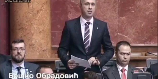 ,,Ви ћете због уласка Србије у ЕУ да продате рођеног оца и мајку!'' (видео)
