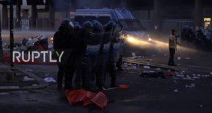 Хаос у Риму: Сукоб миграната и полиције (видео)