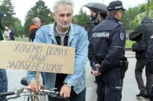 Радници уништених фирми из Ниша сутра у БГ, траже плате