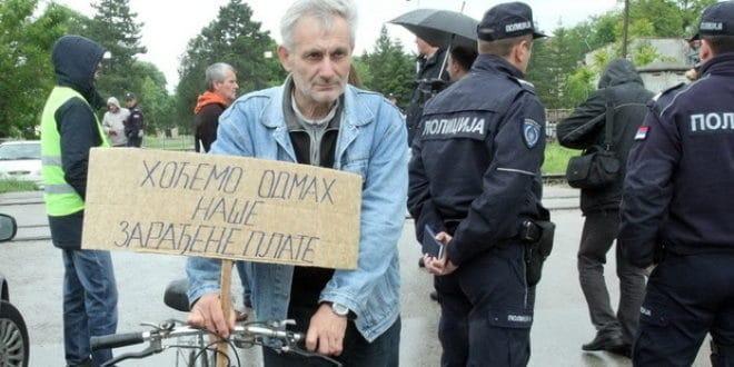 Протест радника у Нишу: Неисплаћене плате још чека 82.000 запослених 1