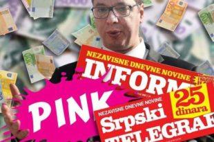 НЕМАЧКИ МЕДИЈИ: Пинк, Информер и Српски телеграф шире лажне вести како би ојачале режим и уништиле његове непријатеље!