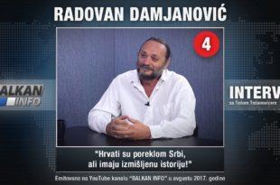 ИНТЕРВЈУ: Радован Дамјановић - Хрвати су пореклом Срби, али имају измишљену историју! (видео)