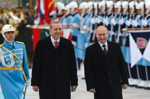 Анкара: Ердоган и Путин подржали територијалну целовитост Ирака и Сирије