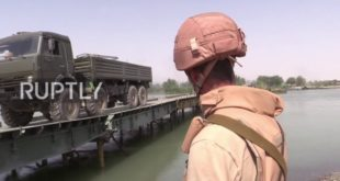 Погледајте како је руска инжењерија премостила Еуфрат (видео)