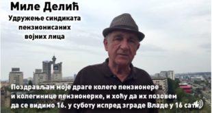 Миле Делић, пензионер који је Вучићу вратио новац, позива вас на протест (видео) 4