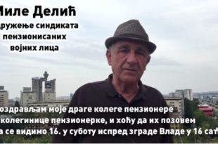 Миле Делић, пензионер који је Вучићу вратио новац, позива вас на протест (видео)