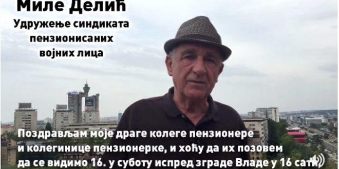 Миле Делић, пензионер који је Вучићу вратио новац, позива вас на протест (видео) 1
