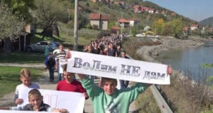 ПРИБОЈ: Успео ПРОТЕСТ против изградње приватне хидроелектране (фото)