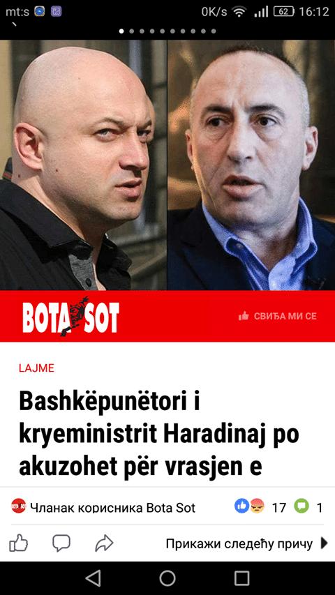 БОТА СОТ: Сарадник премијера Харадинаја Милан Радојчић иза убиства Оливера Ивановића 3