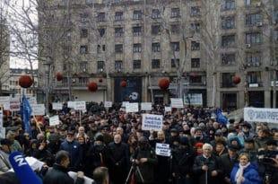 """Протест на београдском Тргу Николе Пашића """"Вратите отете пензије"""""""