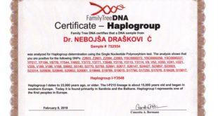 Др Небојша Драшковић: Потврда ДНА института из Тексаса да припадам народима који већ 23.000 година живе на Балкану, првим људима у Европи 5