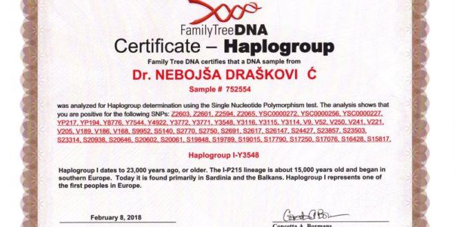 Др Небојша Драшковић: Потврда ДНА института из Тексаса да припадам народима који већ 23.000 година живе на Балкану, првим људима у Европи 1