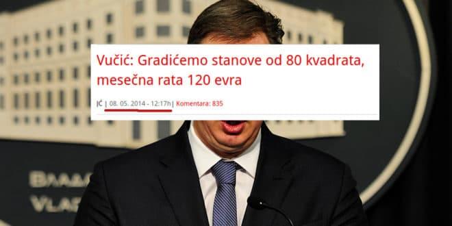 """ДЈБ: А где је 100.000 """"јефтиних станова"""" које је Вучић обећао 2014. 1"""
