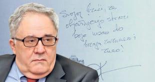 Латинични потпис и посвета од председника САНУ Србима са КиМ 7