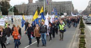 Протест поштара у центру Београда 3