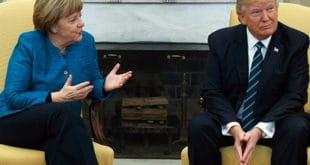 WSJ: Меркелова тражи од Трампа да немачки бизнис не учествује у новим санкцијама против Русије