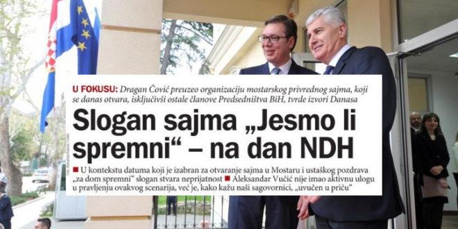 Стаматовић: Због присуства благдану НДХ и најаве учешћа на самиту у Софији - Вучић мора да поднесе оставку!
