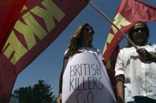 """Демонстранти на Кипру: """"Британске убице идите кући"""""""