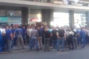 Трећи протест радника и радница ЕПС-а у Масариковој улици (видео) 1