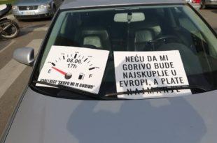 Лесковац, Ниш, Врање, Вучје и блокада путева због високе цене горива (видео)