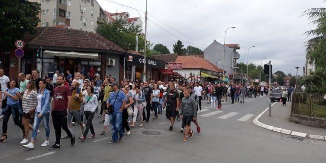 Лазаревац: Протест против хапшења Жарка Павловића и још петорице људи (фото, видео) 1