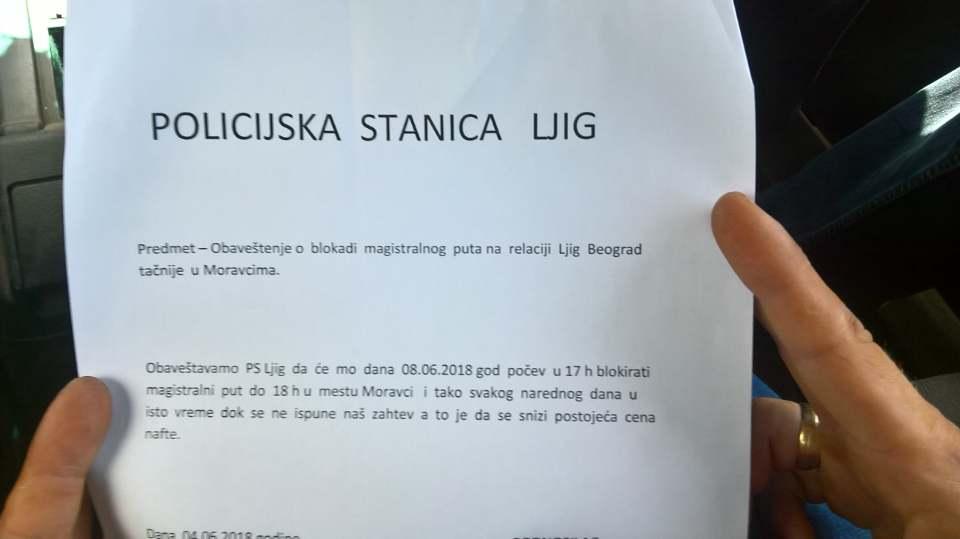 У петак блокада Ибарске магистрале код Љига због енормног раста цена горива 2