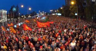 Велике демонстрације у Скопљу против режима америчког вазала Зорана Заева (видео) 9