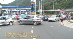 Протест возача у Ужицу због високе цене горива (видео) 7