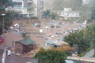 Атина: После пожара поплаве (видео)