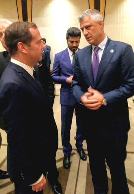 Касапин Тачи се у Анкари срео са руским премијером Медведевом