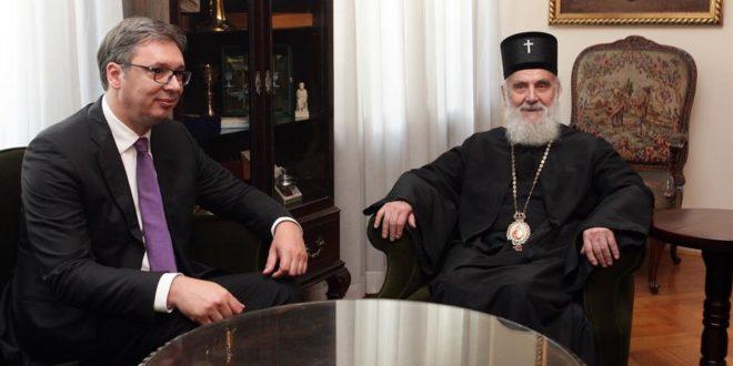 """Вучић се жалио патријарху на """"стране агентуре"""" у СПЦ, патријарх Иринеј одбио разговор у """"четири ока"""""""