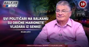 ИНТЕРВЈУ: Дејан Лучић - Сви политичари на Балкану су марионете владара из сенке! (видео) 2