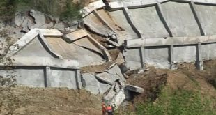 Опет се срушио потпорни зид на Коридору 10 8
