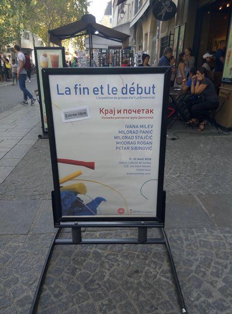Мики Маус гузи Пају Патка у излогу Српског културног центра у Паризу! 3