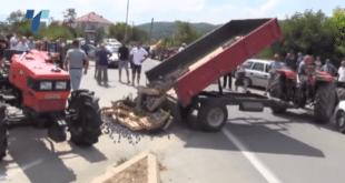 Македонија: Инцидент на протесту збох ниских откупних цена шљиве (видео)