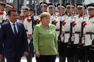ПРВА ЗВАНИЧНА ПОСЕТА: Меркел стигла у Скопље