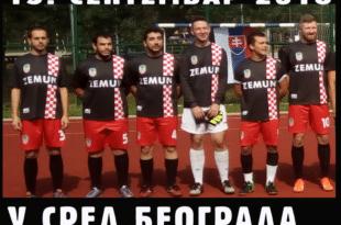 Београд: Амбасада Хрватске наступила у дресовима на којима је на грудима писало Земун са шаховницама!