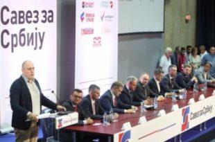 У Београду 10 партија и покрета формирало опозициони Савез за Србију