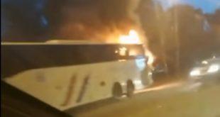 Гори аутобус на Новом Београду: Путници искакали у паници (видео) 5