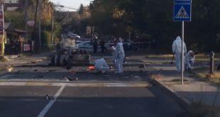 Експлозија аутомобила на Вождовцу (видео)