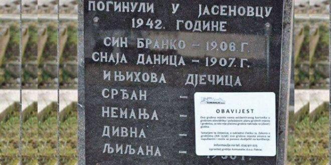"""Хрватска: У току јавна расправа о Закону о гробљима, на основу којег би се уклонили споменици и натписи којима се """"велича сама агресија или великосрпство"""" 1"""