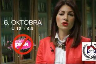 ЗА ЖИВОТ! ЗА СРБИЈУ!  СВИ ИСПРЕД ПИНКА 6.октобра у 12:44! (видео)