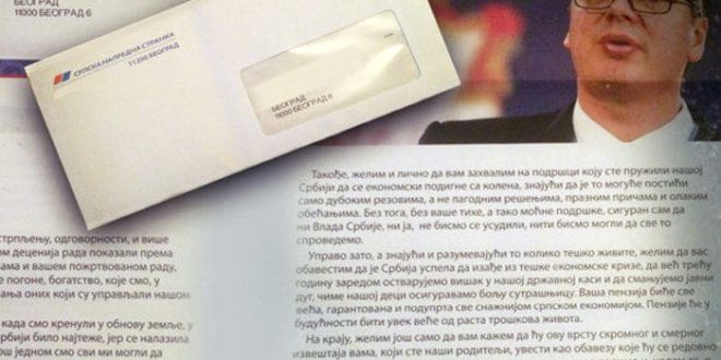 Војни пензионери Александру Вучића: Понижени смо лицемерним писмом које смо добили у ковертама СНС 1