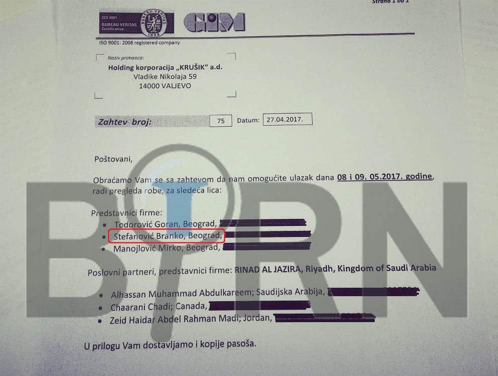 Отац министра полиције Стефановића продаје државно оружје Арапима 2