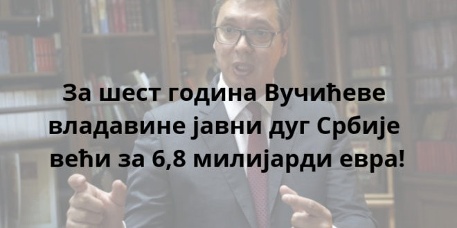 Вучић: Србија мора да враћа дугове што пре 1