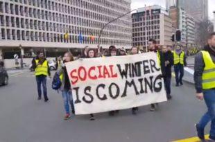 Жестоки протести и у Бриселу, масовна хапшења народа (видео)