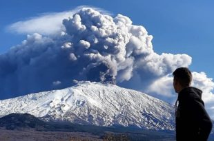 Ерупција вулкана Етна (видео) 1