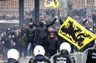 Брисел: Масовни протести против потписивања мигрантског пакта УН (видео) 11